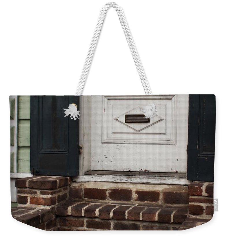 Mail Slot Weekender Tote Bag featuring the photograph Mail Slot by Beth Vincent