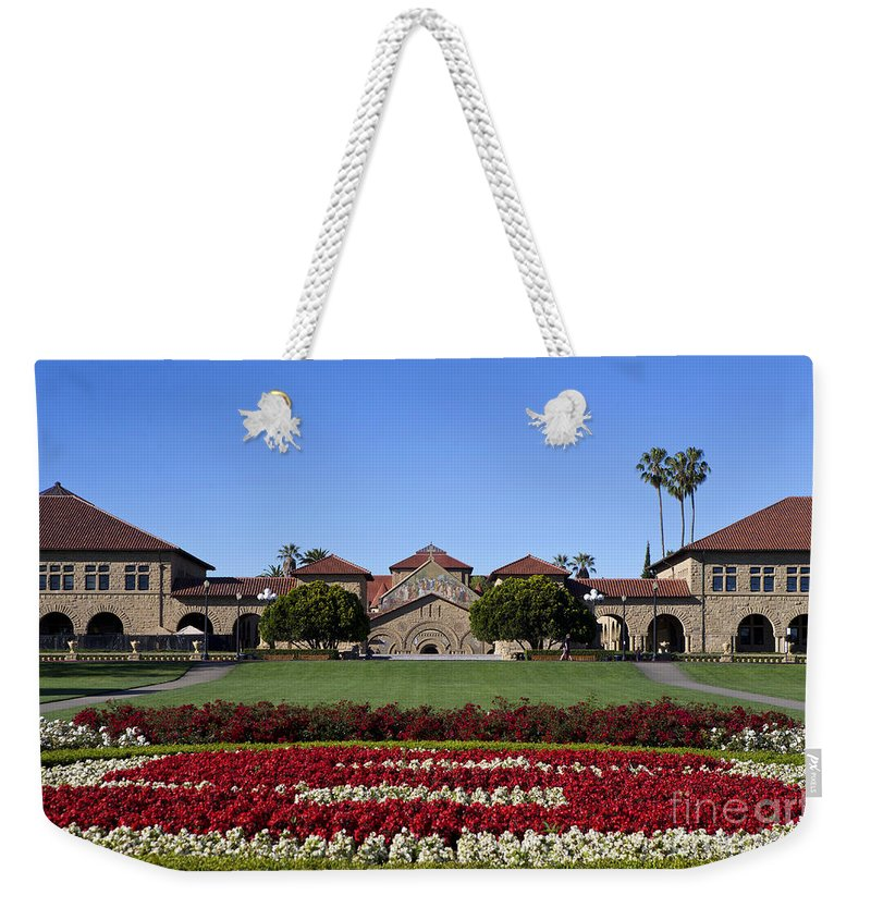 Stanford University Weekender Tote Bag featuring the photograph Main Quad Stanford California by Jason O Watson