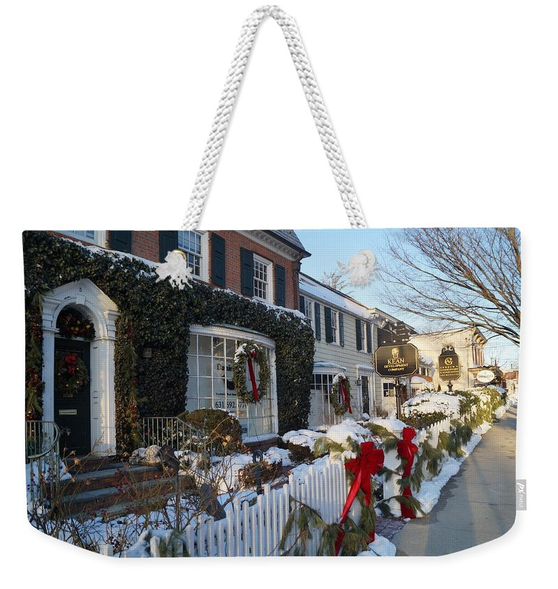 Main Street Weekender Tote Bag featuring the photograph Main Street by John Wall