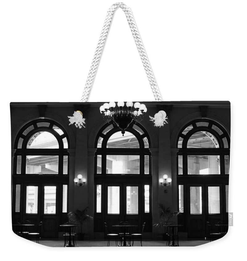 Richmond Weekender Tote Bag featuring the photograph Main Street Station by Tina Meador
