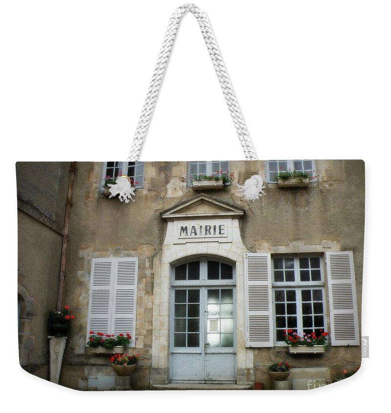 Mairie Weekender Tote Bag featuring the photograph Mairie by Lainie Wrightson
