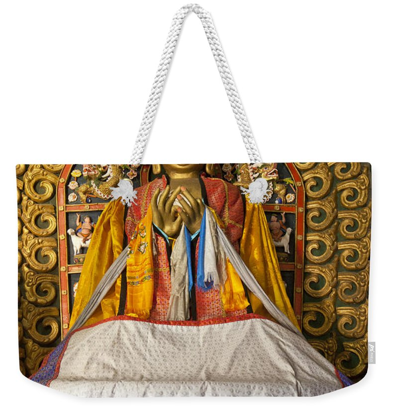 Feb0514 Weekender Tote Bag featuring the photograph Maitreya Buddha Erdene Zuu Monastery by Colin Monteath