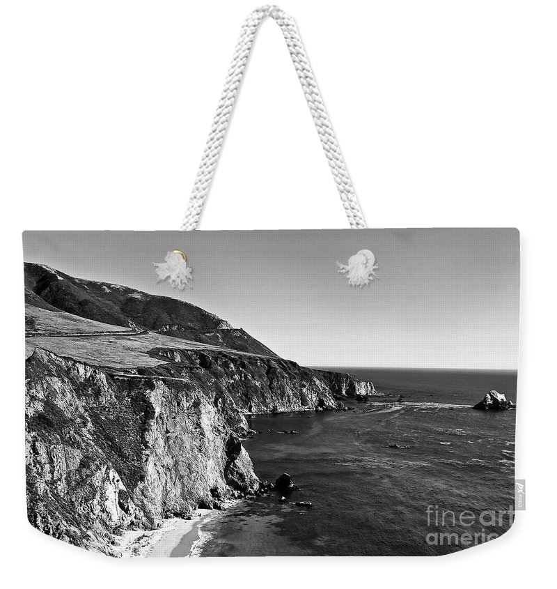 Black&white Weekender Tote Bag featuring the photograph Majestic Coast by Scott Pellegrin