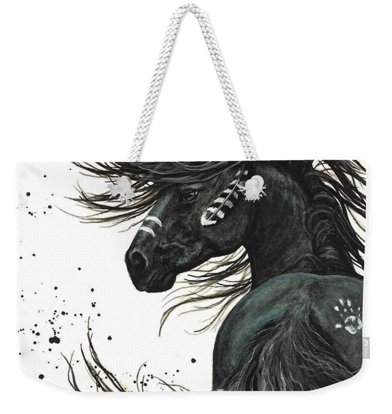Mm65 Weekender Tote Bag featuring the painting Majestic Spirit Horse I by AmyLyn Bihrle