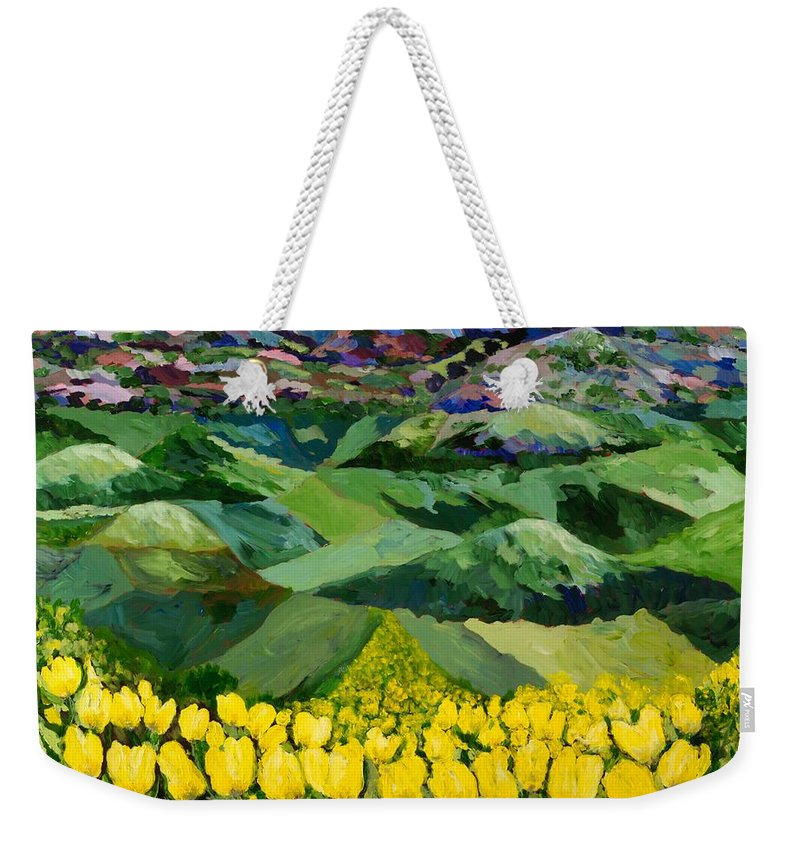 Landscape Weekender Tote Bag featuring the painting Majestic Parade by Allan P Friedlander