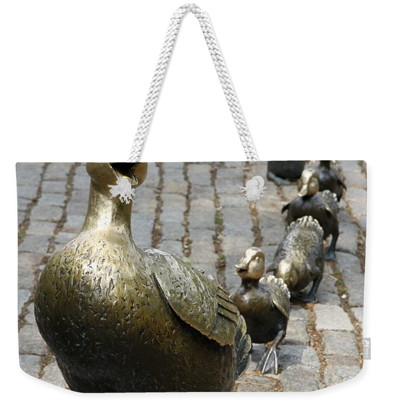 Ducklings Weekender Tote Bag featuring the photograph Make Way For Ducklings by Christiane Schulze Art And Photography