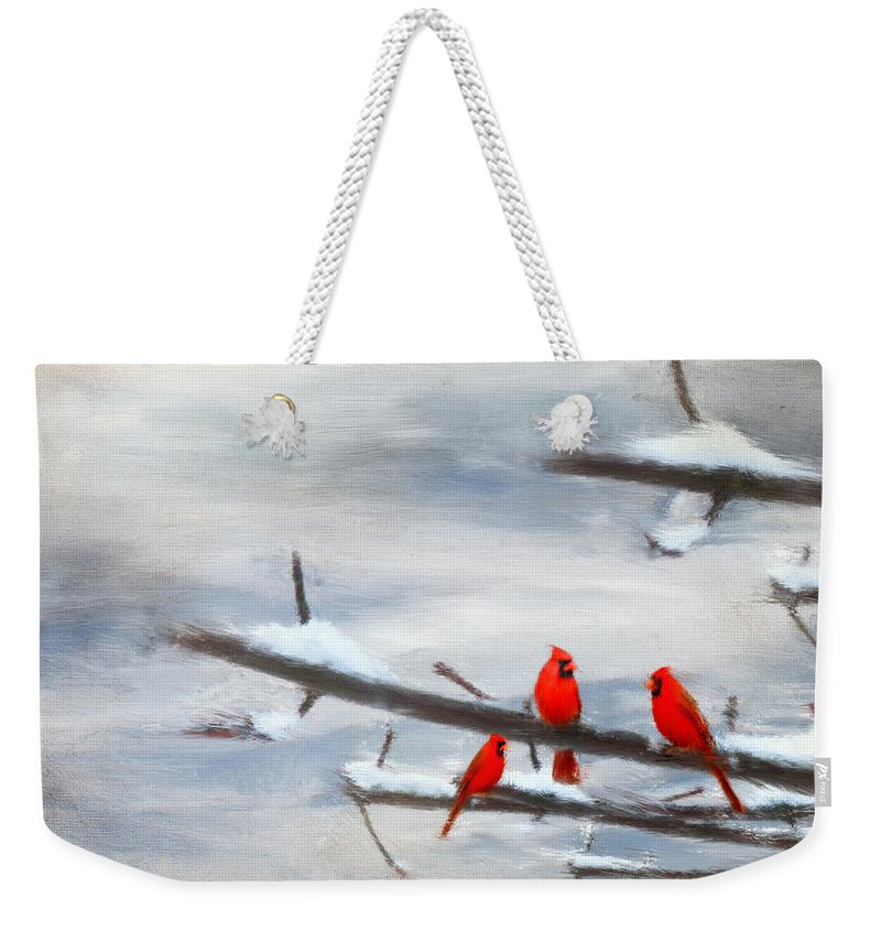 Four Seasons Weekender Tote Bag featuring the photograph Making Acquaintances by Lourry Legarde