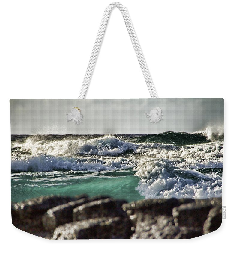 Waves Weekender Tote Bag featuring the photograph Making Waves by Douglas Barnard