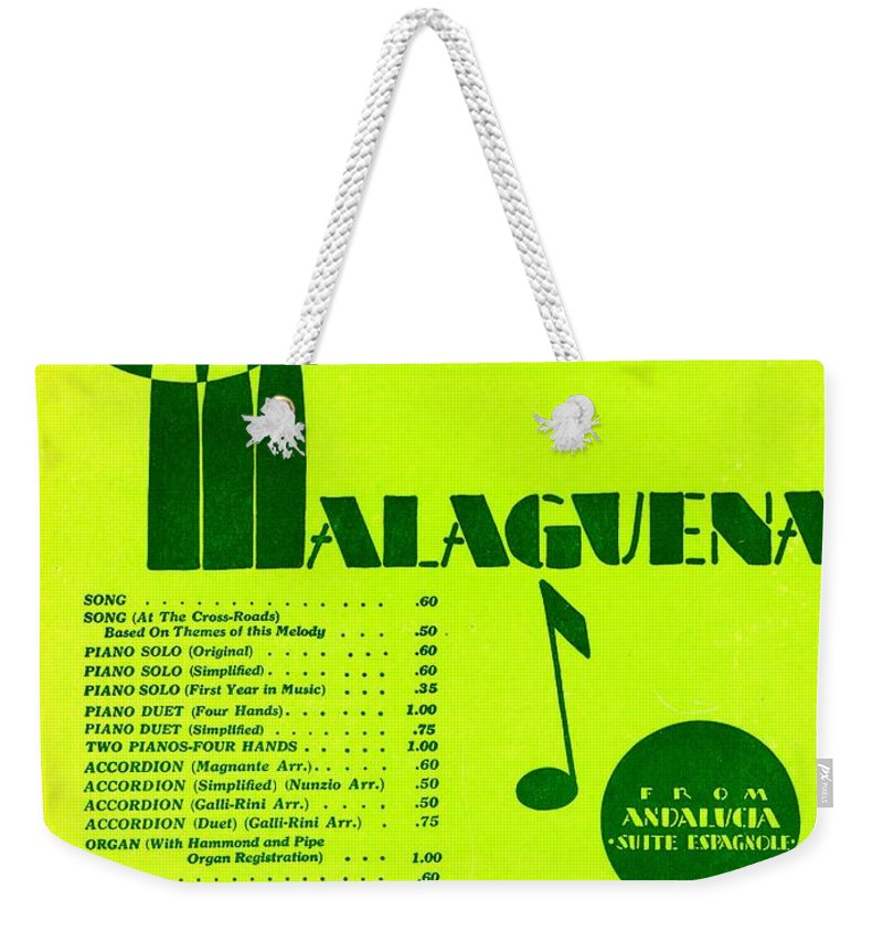 Nostalgia Weekender Tote Bag featuring the photograph Malaguena by Mel Thompson