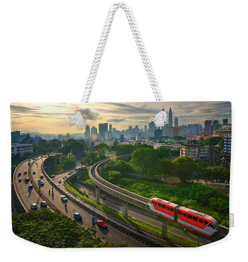 Train Weekender Tote Bag featuring the photograph Malaysia - Kuala Lumpur City by By Toonman
