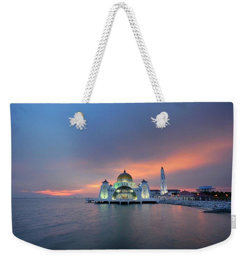 Mosque Weekender Tote Bag featuring the photograph Malaysia - The Straits Mosque, Malacca by By Toonman