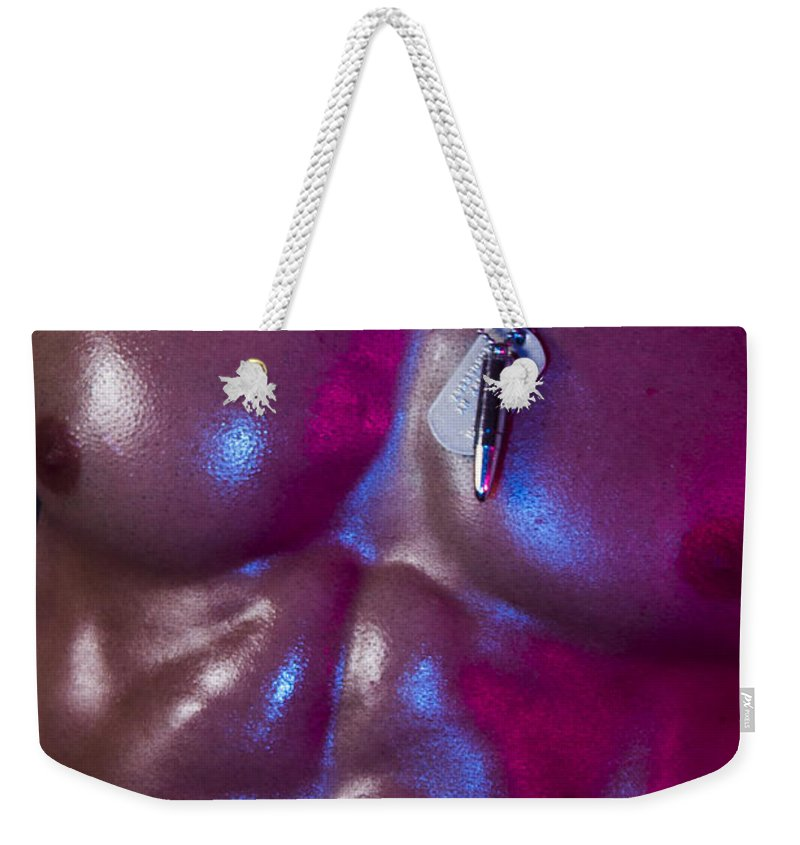 Gay Weekender Tote Bag featuring the photograph Opia by Mark Ashkenazi