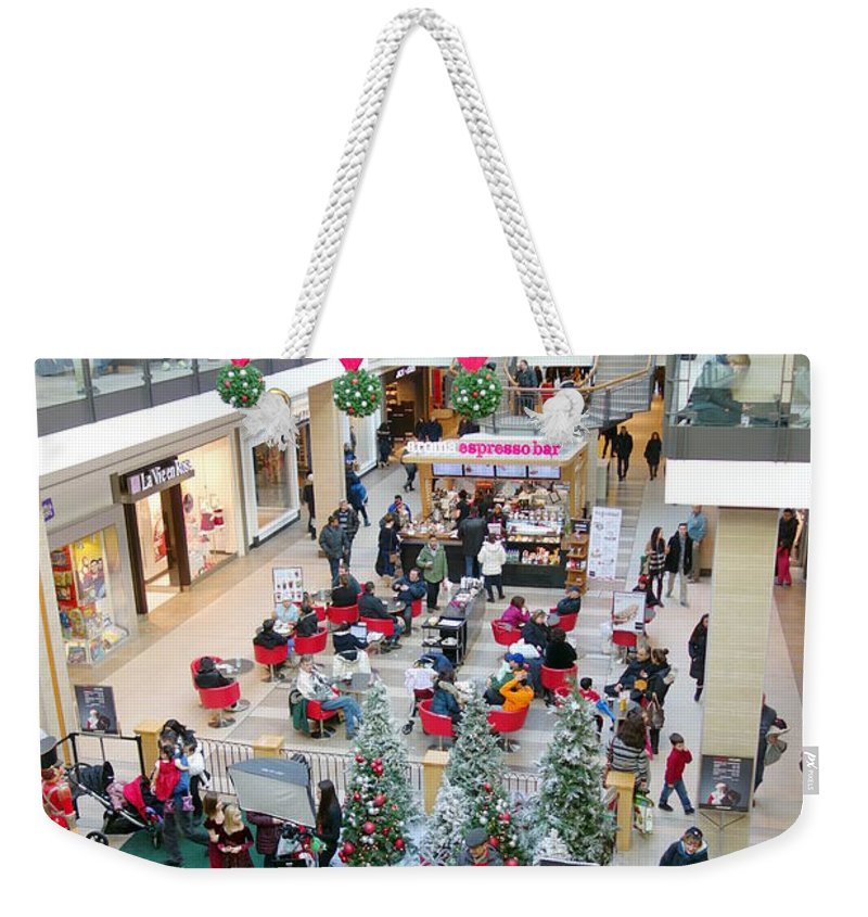 Shopping Weekender Tote Bag featuring the photograph Mall Before Christmas by Valentino Visentini