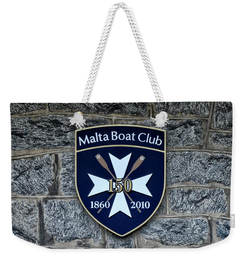 Malta Weekender Tote Bag featuring the photograph Malta Boat Club by Bill Cannon