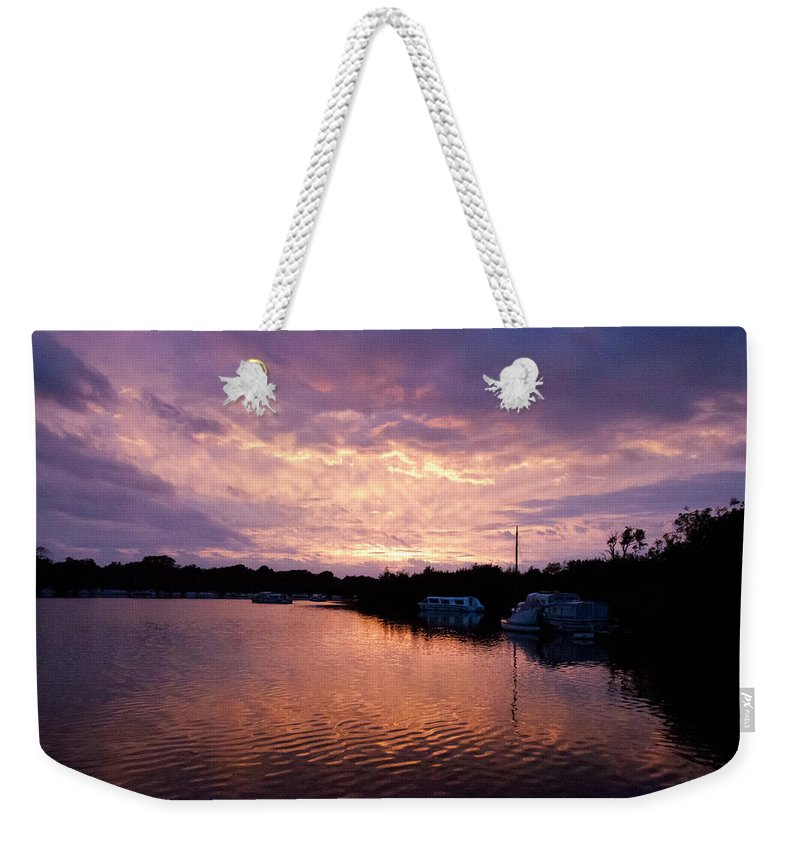 Norfolk Broads Weekender Tote Bag featuring the photograph Malthouse Broad by Gavin Bates