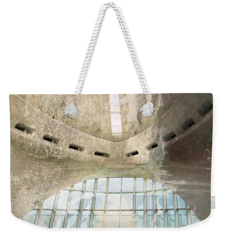 Mam Weekender Tote Bag featuring the digital art Mam Interior And Concrete 2 by Anita Burgermeister