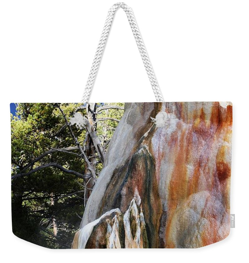 Yellowstone Weekender Tote Bag featuring the photograph Mammoth Formation by Deanna Cagle