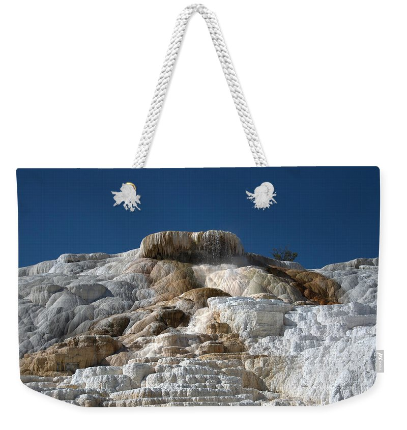 Blue Weekender Tote Bag featuring the photograph Mammoth Hotsprings 4 by Frank Madia