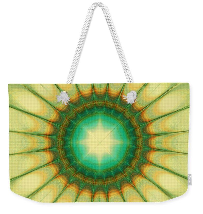 Hope Weekender Tote Bag featuring the digital art Mandala Of The Hope by Klara Acel