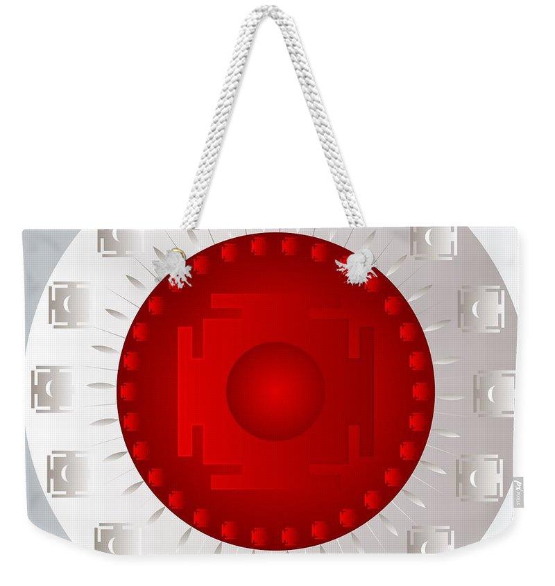 Mandala Weekender Tote Bag featuring the digital art Mandala Pam by Sarah Niebank