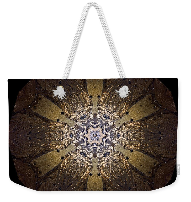 Mandala Weekender Tote Bag featuring the photograph Mandala Sand Dollar At Wells by Nancy Griswold