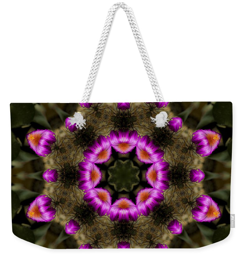 Weekender Tote Bag featuring the photograph Mandala74 by Lee Santa