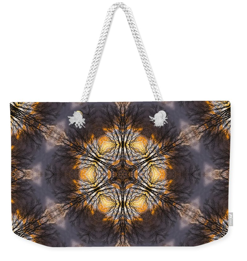 Weekender Tote Bag featuring the photograph Mandala87 by Lee Santa