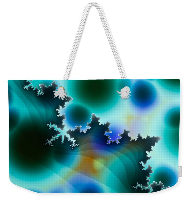 Fractal Weekender Tote Bag featuring the digital art Mandelbrot by Hakon Soreide