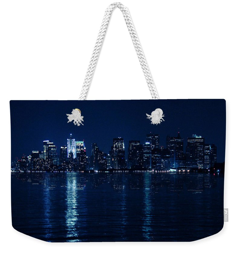 Mood Weekender Tote Bag featuring the photograph Manhattan by Mark Ashkenazi
