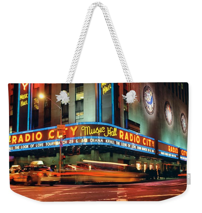 Photography Weekender Tote Bag featuring the photograph Manhattan, Radio City Music Hall, Nyc by Panoramic Images