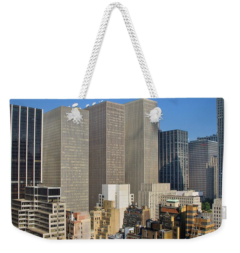 America Weekender Tote Bag featuring the photograph Manhattan Urban Jungle by New York