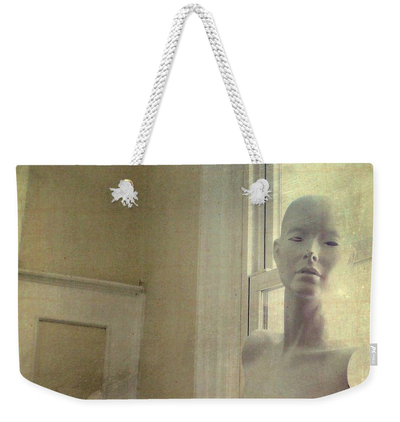 Mannequin Weekender Tote Bag featuring the photograph Mannequin In The Window by Gothicrow Images