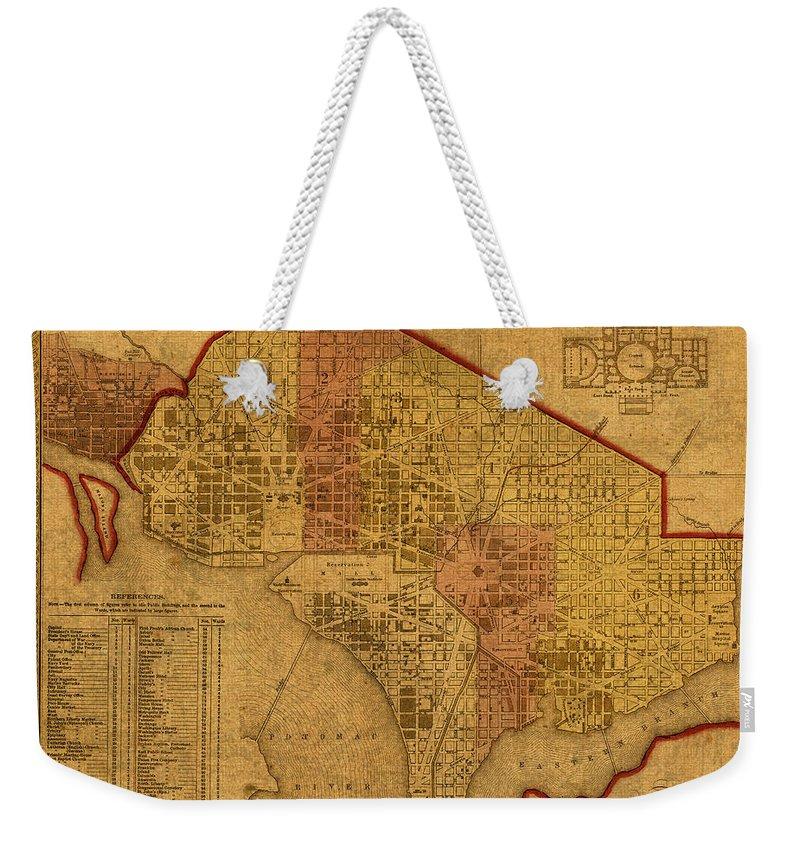 1850 Mixed Media Weekender Tote Bags