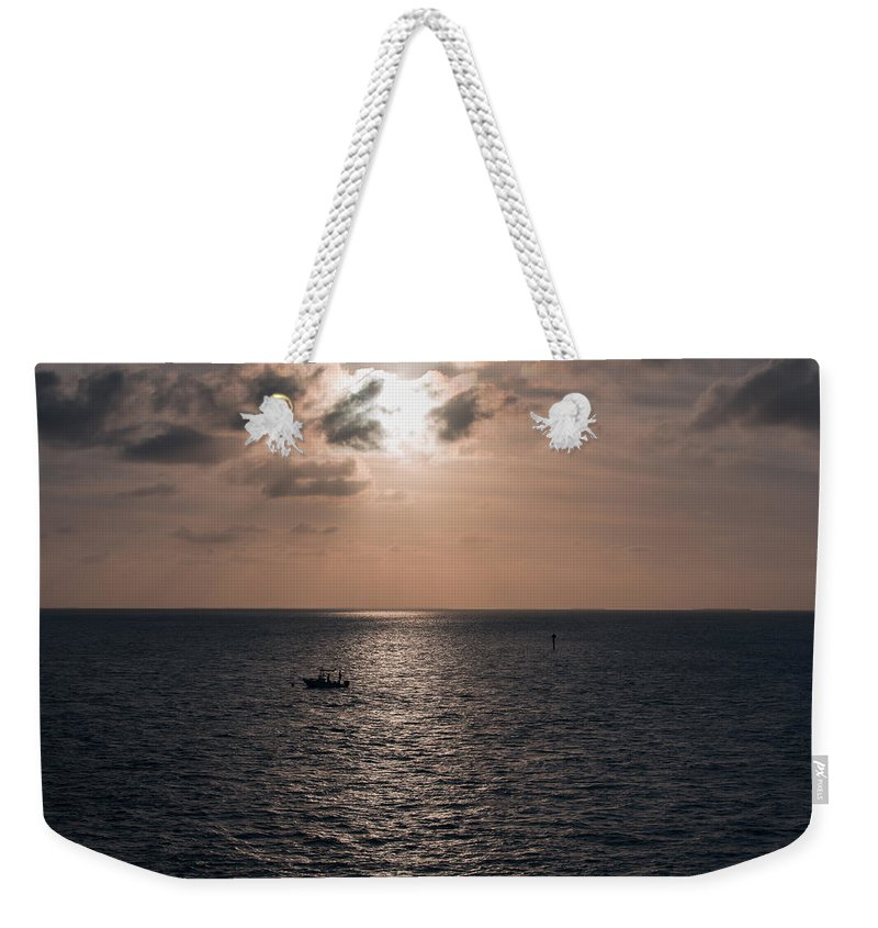 America Weekender Tote Bag featuring the photograph Marathon Sunset by John M Bailey