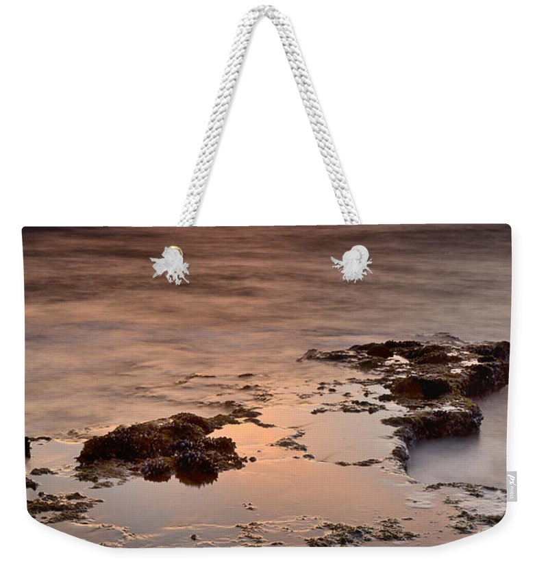 Seascape Weekender Tote Bag featuring the photograph Marbella Spain by Guido Montanes Castillo