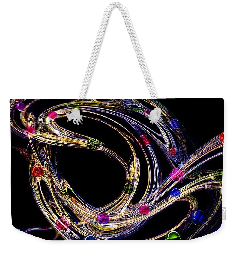 Fractal Weekender Tote Bag featuring the digital art Marble Shooter by Patricia Banks