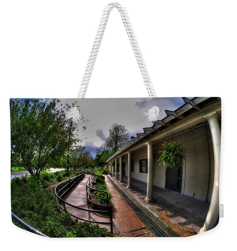 Hoyt Lake Weekender Tote Bag featuring the photograph Marcy Casino In Delaware Park by Michael Frank Jr