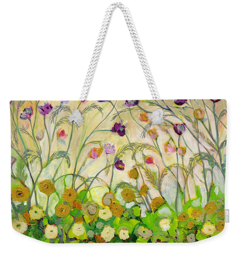 Landscape Weekender Tote Bag featuring the painting Mardi Gras by Jennifer Lommers