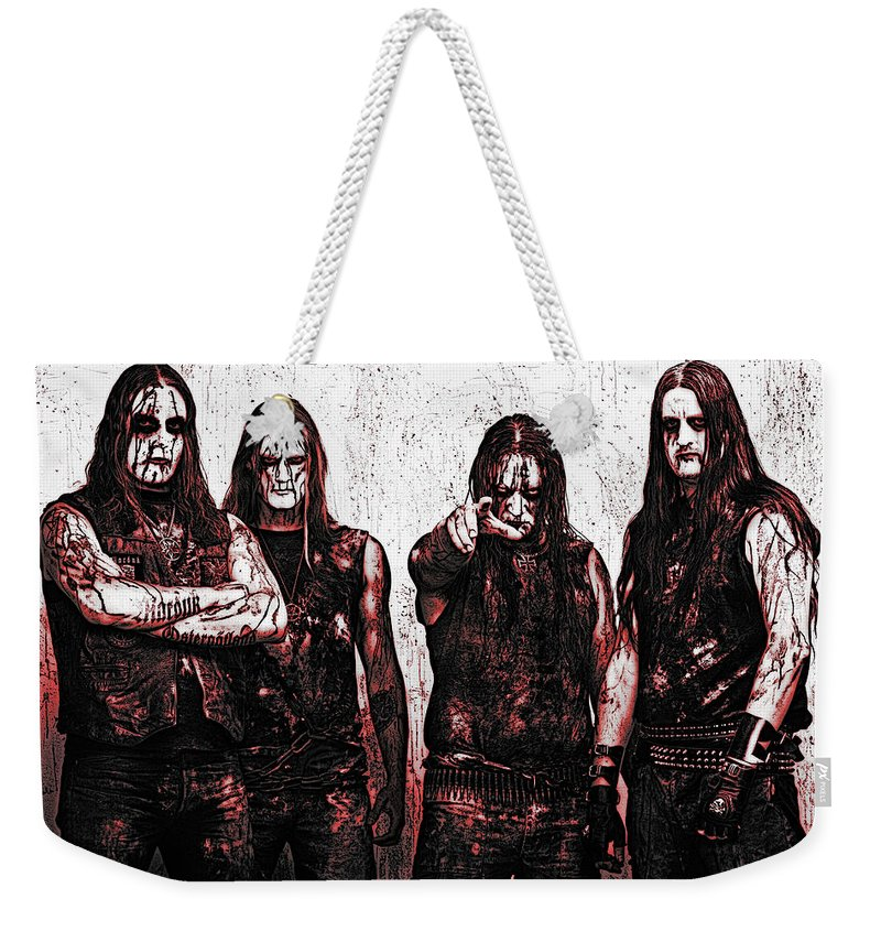 Marduk Weekender Tote Bag featuring the photograph Marduk by Lyriel Lyra