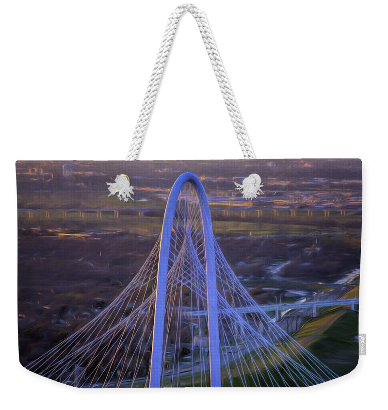 Joan Carroll Weekender Tote Bag featuring the photograph Margaret Hunt Hill Bridge Central Arch by Joan Carroll