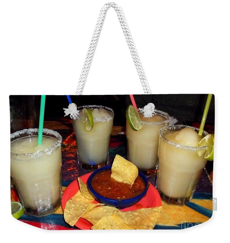 Margaritas Weekender Tote Bag featuring the photograph Margarita Time by Nancy Mueller