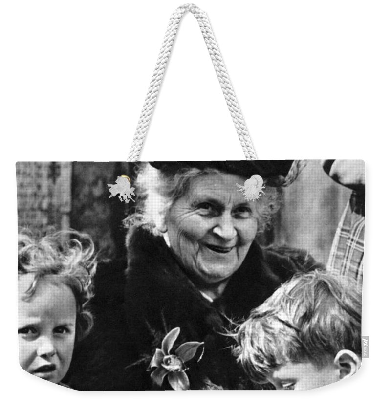 19th Century Weekender Tote Bag featuring the photograph Maria Montessori by Granger
