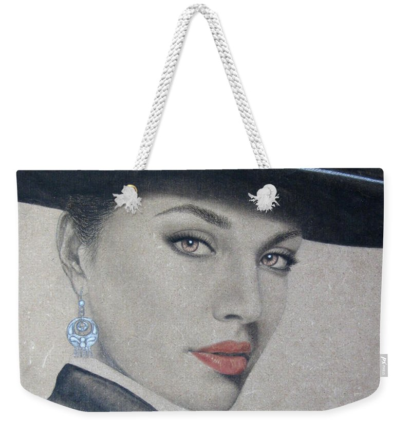 Mariachi Weekender Tote Bag featuring the painting Mariachi by Lynet McDonald