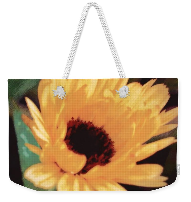 Nature Weekender Tote Bag featuring the photograph Marigold Impressions by Photographic Arts And Design Studio