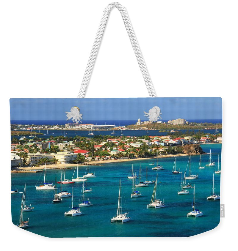 Marigot Weekender Tote Bag featuring the photograph Marigot Harbor St. Martin by Roupen Baker