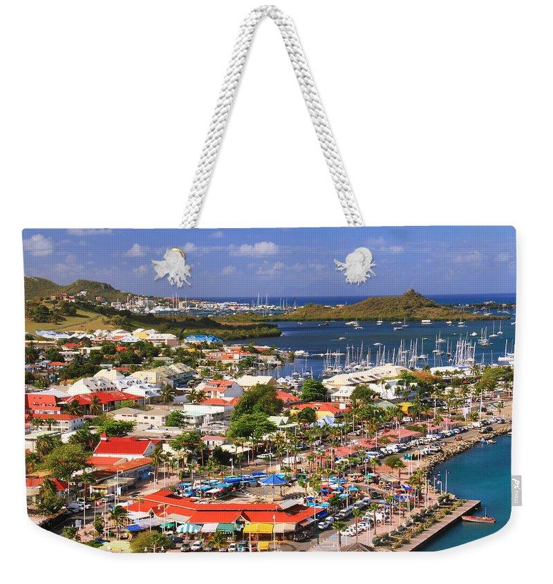 Marigot Weekender Tote Bag featuring the photograph Marigot St. Martin by Roupen Baker
