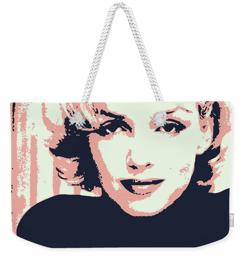 Claudia Weekender Tote Bag featuring the digital art Marilyn M by Chungkong Art