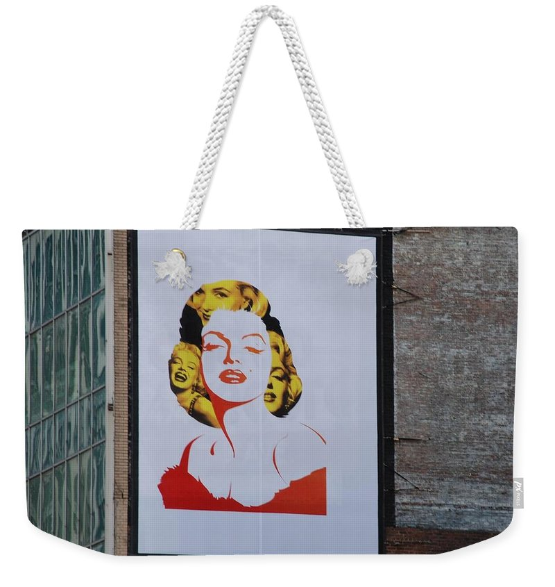 Marilyn Monroe Weekender Tote Bag featuring the photograph Marilyn Monroe by Rob Hans