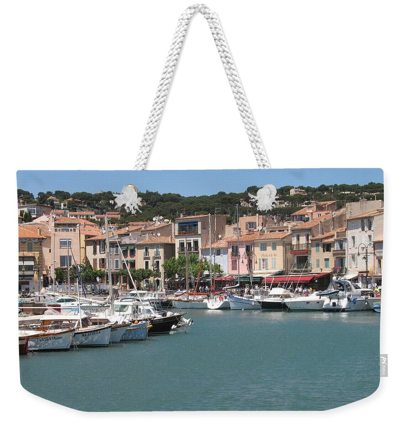 Harbor Weekender Tote Bag featuring the photograph Marina Cassis by Christiane Schulze Art And Photography