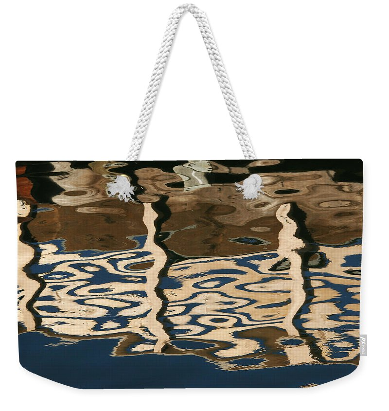 Reflection Weekender Tote Bag featuring the photograph Marina Reflections by Robert Woodward